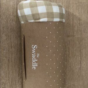 Solly swaddle creamy gingham